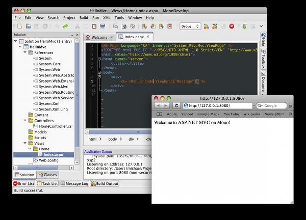 Running an ASP.NET MVC app in MonoDevelop on the Mac