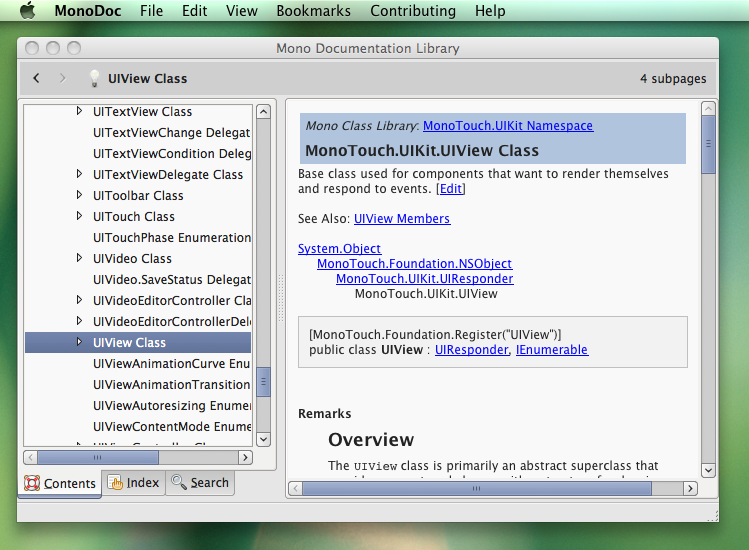 MonoDevelop with Mac main menu support