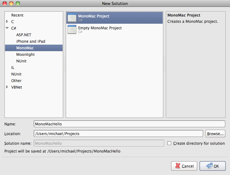 Building Mac Applications in MonoDevelop with MonoMac · mhut ch