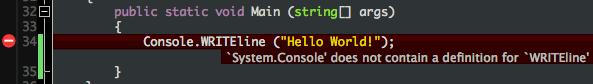 An inline error message bubble