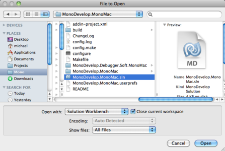 The option to close the existing workspace when opening a solution